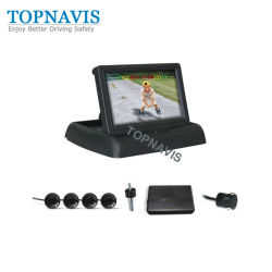 Câmara de Vídeo com Sensor de Estacionamento 4.3 polegadas Monitor dobrável
