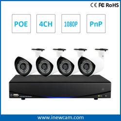屋外の保安用カメラとのホームセキュリティーのための4CH 2MP CCTVのカメラシステム