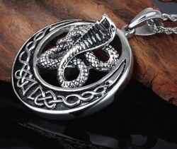 قلادة مجوهرات من الفولاذ المقاوم للصدأ قلادة البانك Animal Snake