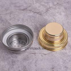 Cóctel de acero inoxidable de color dorado alcachofa