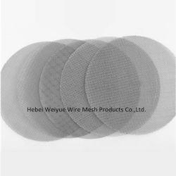 304ステンレス鋼のマイクロ穴によって編まれる金網フィルターディスク