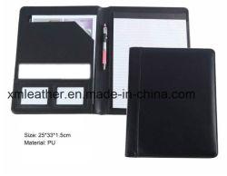 Не zip файл из натуральной кожи A4 блока папки для бизнеса
