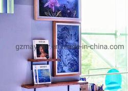 إطار خشبي إطار صور رقمي LCD كبير الحجم / شاشة عرض معرض فني LCD / شاشة عرض رسم زيتية لمعرض الفنون
