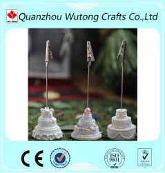 Novo design do titular do cartão de Formato de bolo de resina para decoração de casamento