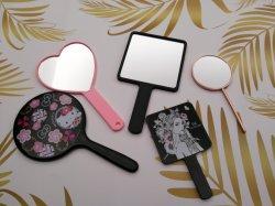 Портативное устройство наружного зеркала заднего вида пластиковых зеркало зеркало для макияжа и при печати на задней стороне различные формы