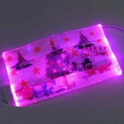 도매 형식 조정가능한 광섬유 LED 크리스마스 가면 얼굴 방패