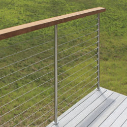 Провод кабеля поручня/Balustrade на балкон/лестницы/нержавеющая сталь поручня деки