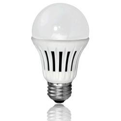 A19 LED regulable bombilla global con un 86% ahorro de energía.