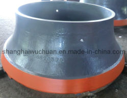 Мантия чашу подбарабанья, конусная дробилка гильзы износа гильз, марганца и литой детали запасные части