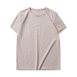 티셔츠 95% 면 5% 스판덱스 스트레치 블랭크 티 사용자 정의 로고 및 태그