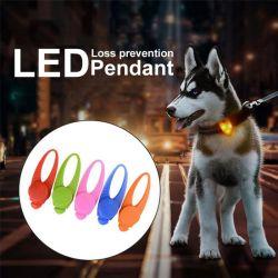 Mascota colgante, collar de seguridad LED parpadea la luz incandescente Luz de noche colgante Collar parpadeante