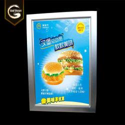 LED de comida rápida de la publicidad personalizada Menú curvo Caja de luz