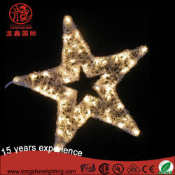 LEDのクリスマスの星のモチーフの装飾ライト