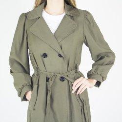 OEM de la marca de moda de primavera verde militar para las mujeres abrigos Trench