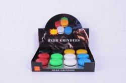 Nieuw Ontwerp Producten van het Onkruid van het Embleem van de Douane van het Blad van de Molen van het Kruid van de Molen van de Rook van de Hamburger van 2 Lagen de Plastic Spinnende Rokende
