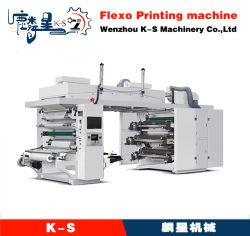 التسجيل التلقائي لآلة الطباعة بستة ألوان/OPP/LDPE/OPP CI من نوع Flexo/Flexographic مع آلة Winder غير Stop