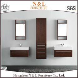 Un style moderne en bois massif des armoires de salle de bains avec LED MIROIR DE COURTOISIE