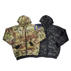 Hot Sale Multicam Camouflage Zipper Jacket Woobie Hoodie