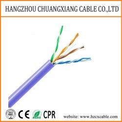 كبل LAN كبل UTP Cat5e 24AWG بكبل بيانات السترة PVC نحاسي كبل توصيل الأسلاك Cu/BC/CCA كبل توصيل شبكي كبل توصيل نحاسي كبل الكمبيوتر