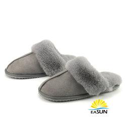 Bedrukte Slippers Dames Loafers Teddy Bear Slippers Plush Schapenhuid Slippers