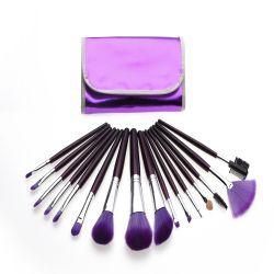 l'artista di trucco professionista delle estetiche 16PCS con la polvere del sacchetto dell'unità di elaborazione spazzola gli insiemi di spazzole su ordinazione di trucco di bellezza di marchio dell'ombretto