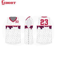Basketbal Jersey van de Sport van Childs van Aibort het Ééndelige voor Goedkoop (l-BK005)