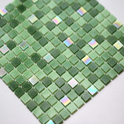 Iriserend glas Mozaïek vierkante vorm Groen gekleurd Mozaïek zwembad Badkamer Decoratie-Ysfgm14