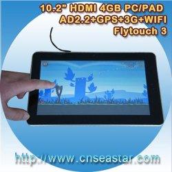 10,2 polegadas Flytouch 3 Tablet PC Android Market 2.2, 4GB-8GB de memória (X220)