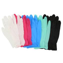 La Chine Le commerce de gros des gants en nitrile Violet Noir Blanc Bleu des gants en nitrile non poudrés Gants de travail de la sécurité de bonne qualité des gants en nitrile, l'examen des gants en nitrile