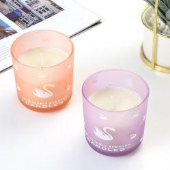 Cristal pintado de color personalizadas jarras de vela de oración de Navidad