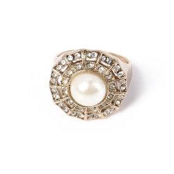Gute Qualität Modeschmuck Perle Gold Ring