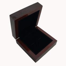 Casella di legno della lacca nera di lusso all'ingrosso con il marchio personalizzato della matrice per serigrafia