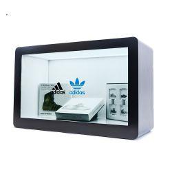 21.5インチ製品を鮮やかに販売するための透過LCDのディスプレイ・ケースのタッチ画面LCDのパネルの広告のメディアプレイヤーのデジタル表記のキオスク