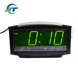 Homeuse 전자 자명종 라디오 LCD 가벼운 시계 라디오
