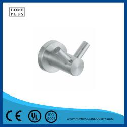Base redonda accesorios de baño personalizadas de aleación de zinc de montaje en pared Colgador Gancho Gancho de la túnica de tela