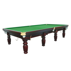 Professional billar Pool mesa de billar en madera maciza y mármol, con un paño de lana de grado superior