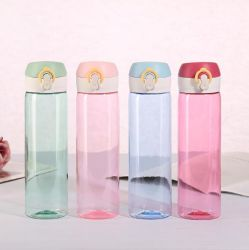 I bambini 500ml BPA di campagna di sport esterno liberano le bottiglie di acqua beventi riciclate della plastica su ordinazione della frutta di sport