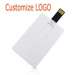 Cartão de crédito USB2.0, Unidade Flash de 4GB, 8GB, 16GB USB do abridor Pen Drive 64GB