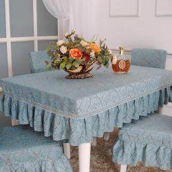 La impresión de las plantas resistentes al agua tapa de la mesa un mantel