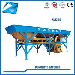 Pl1200 Batcher para móviles de planta de procesamiento por lotes concretos para la venta de concreto móvil Planta de procesamiento por lotes