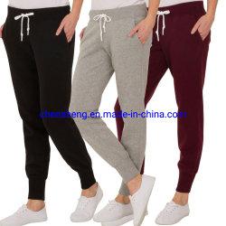 OEM-Дизайн женщин спорта брюки повседневный сшивания скобками брюки нового бизнес-салона полосой вязки Joggers износа