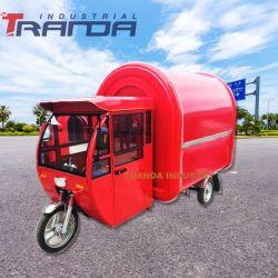 Veículo alimentar Sorvete Carrinho Alimentar Triciclo Tuk Tuk Carro de venda de alimentos