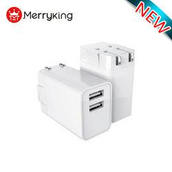 adaptateur électrique Merryking USB AC DC 5V 2A 2.1A Port simple/double chargeur mural USB pour téléphone mobile