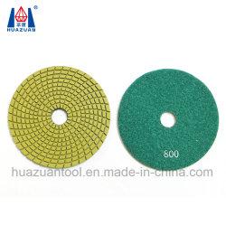 Diamante verde mojado de agua de las pastillas para pulir mármol pulido de granito