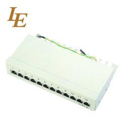 케이블 관리 CAT6 패치 패널이 있는 1U FTP 12포트