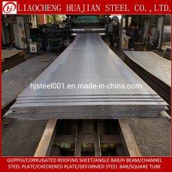 S235JR Q235B SS400 A36 de la placa de acero templado al carbono de metal de hierro de hoja de acero plano de los materiales de construcción