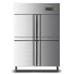 Le restaurant commerciale 4 portes acier inoxydable réfrigérateur congélateur Réfrigérateur vertical