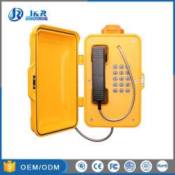 屋外の耐候性がある電話、破壊者の抵抗力がある通話装置、緊急の電話