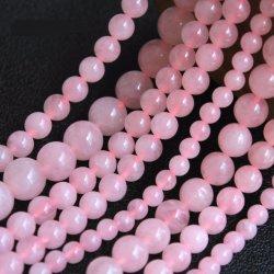 Rose cordões de quartzo para Jóias de joalharia tornando todos os tamanhos disponíveis 6 mm