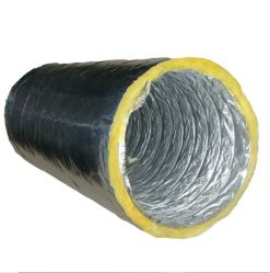El aislamiento del conducto flexible de doble cara, el papel de aluminio